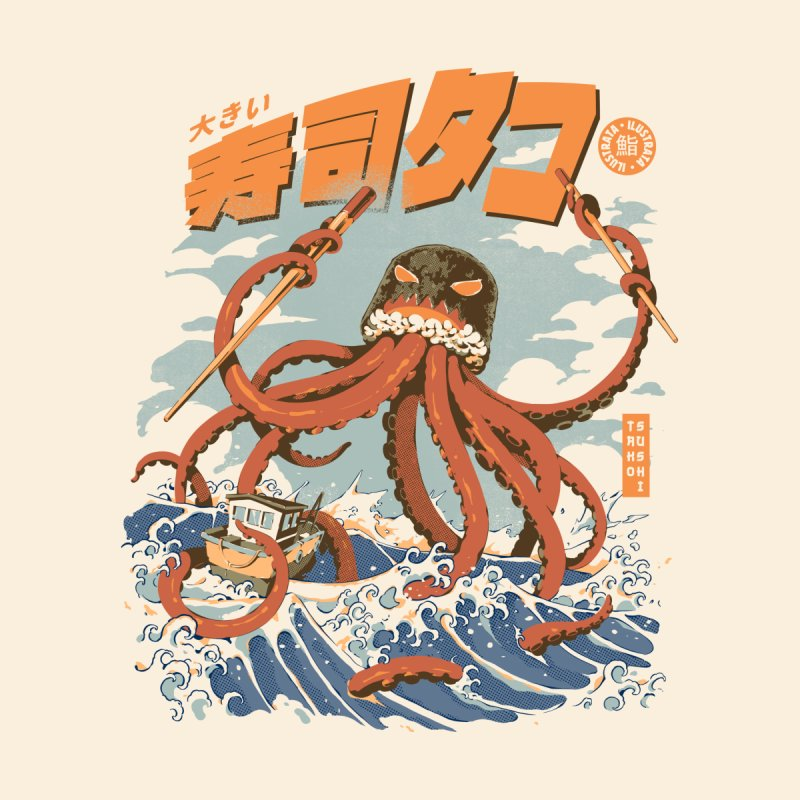 The Tako Sushi Accessories Mug by ilustrata