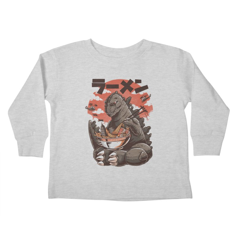 Kaiju's Ramen Kids Toddler Longsleeve T-Shirt by ilustrata