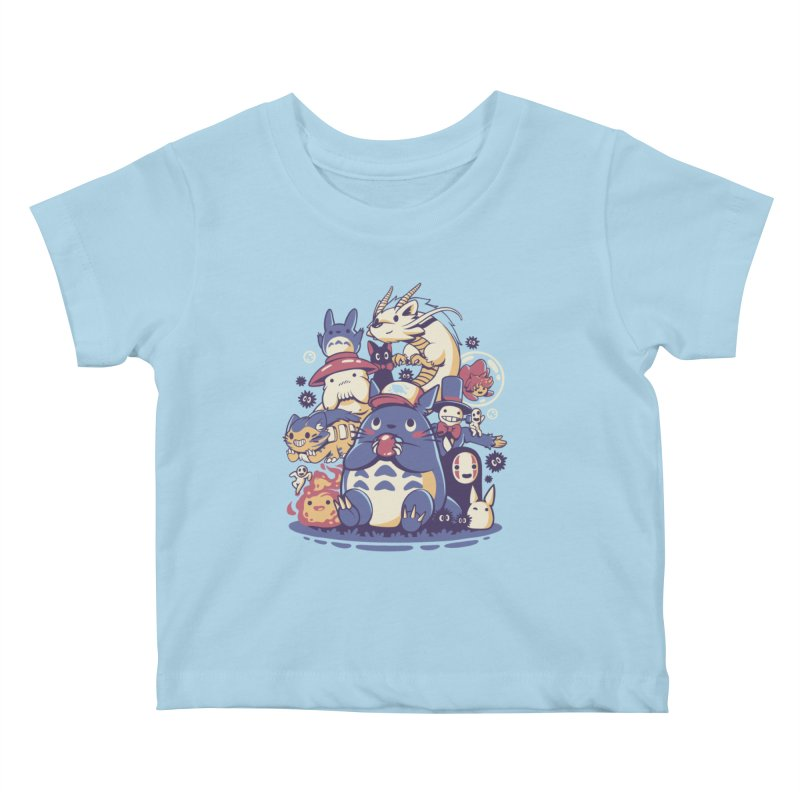 Creatures Spirits and friends Kids Baby T-Shirt by ilustrata