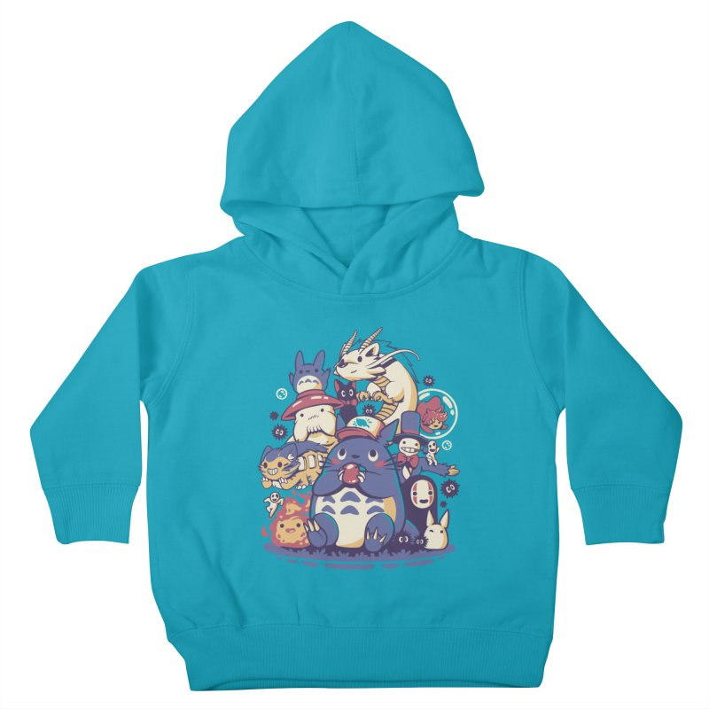 Creatures Spirits and friends Kids Toddler Pullover Hoody by ilustrata