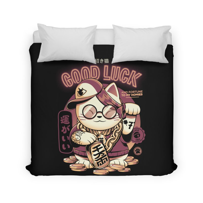 Lucky Cat Home Duvet by ilustrata