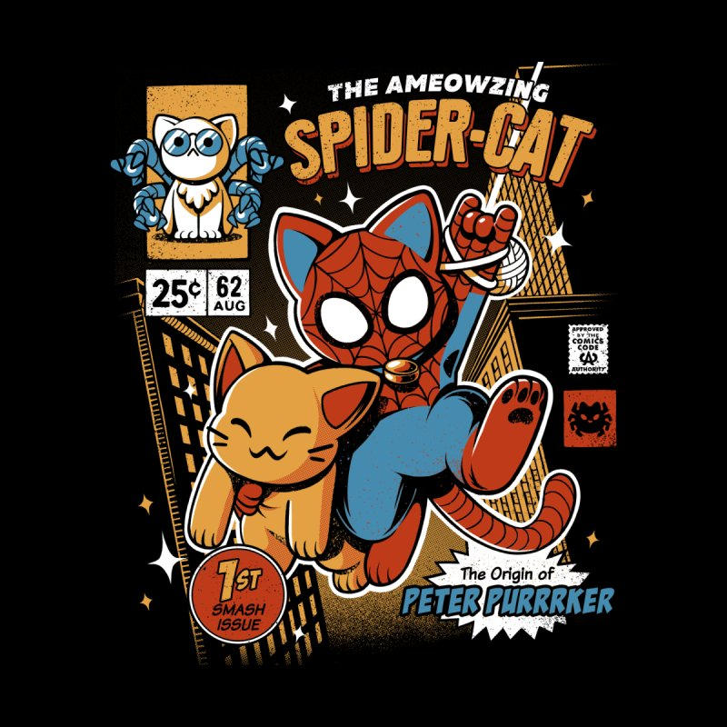 Spider Cat Men's Longsleeve T-Shirt by ilustrata