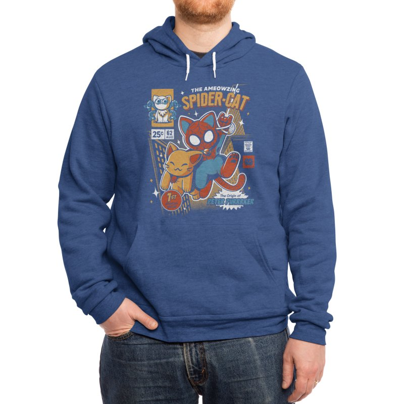 Spider Cat Men's Pullover Hoody by ilustrata