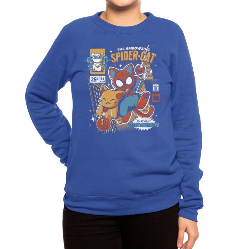 Spider Cat Women's Sweatshirt by ilustrata