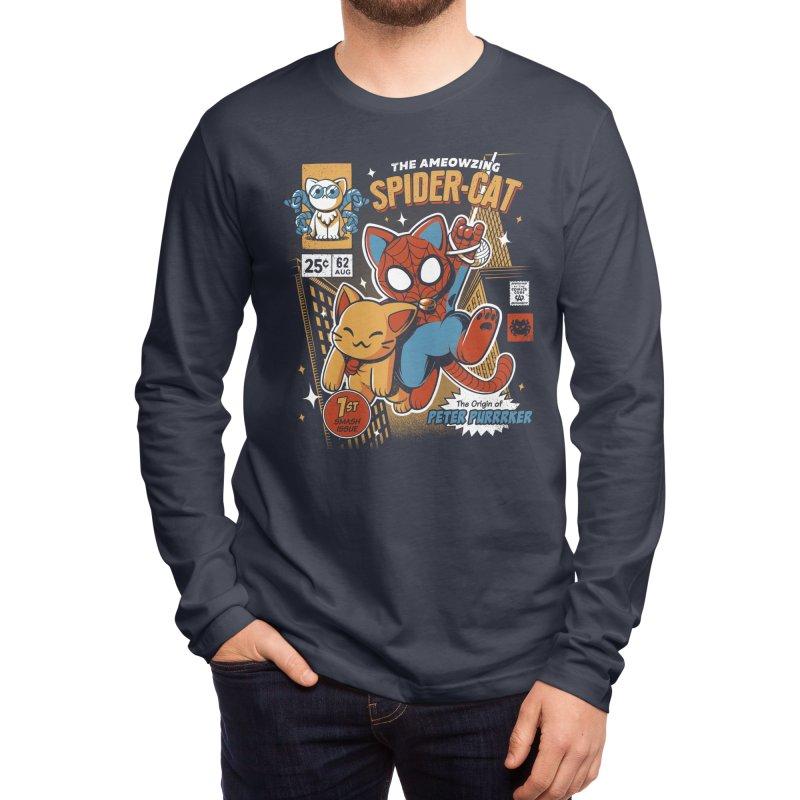 Spider Cat Men's Longsleeve T-Shirt by ilustrata