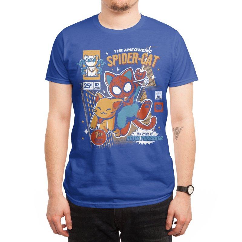 Spider Cat Men's T-Shirt by ilustrata