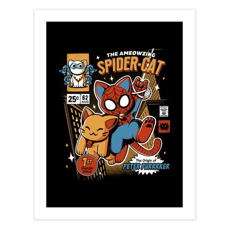 Spider Cat Home Fine Art Print by ilustrata