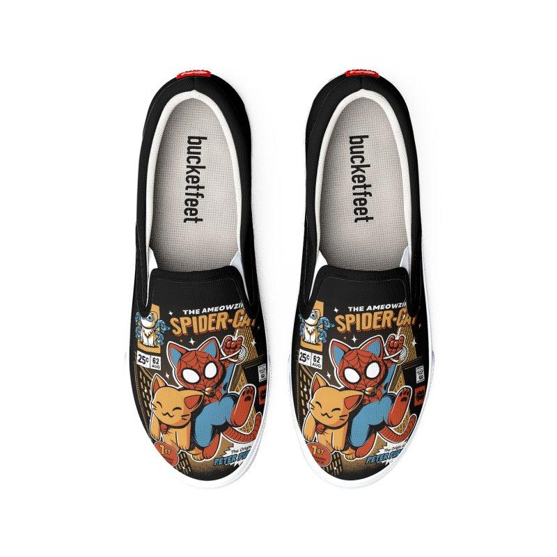Spider Cat Men's Shoes by ilustrata