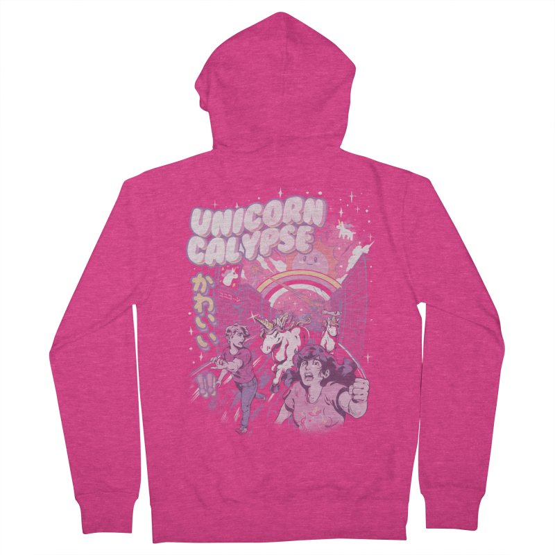 Unicorn Calypse Women's French Terry Zip-Up Hoody by ilustrata