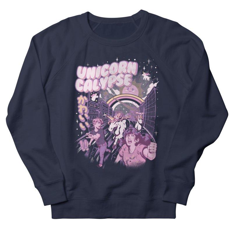Unicorn Calypse Men's French Terry Sweatshirt by ilustrata