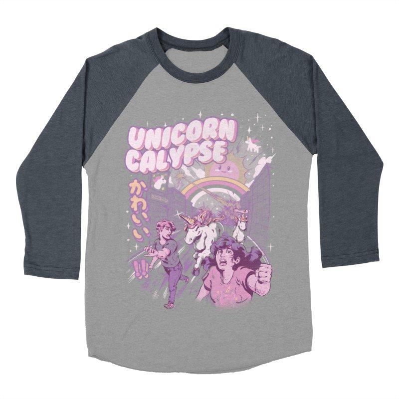 Unicorn Calypse Women's Baseball Triblend Longsleeve T-Shirt by ilustrata