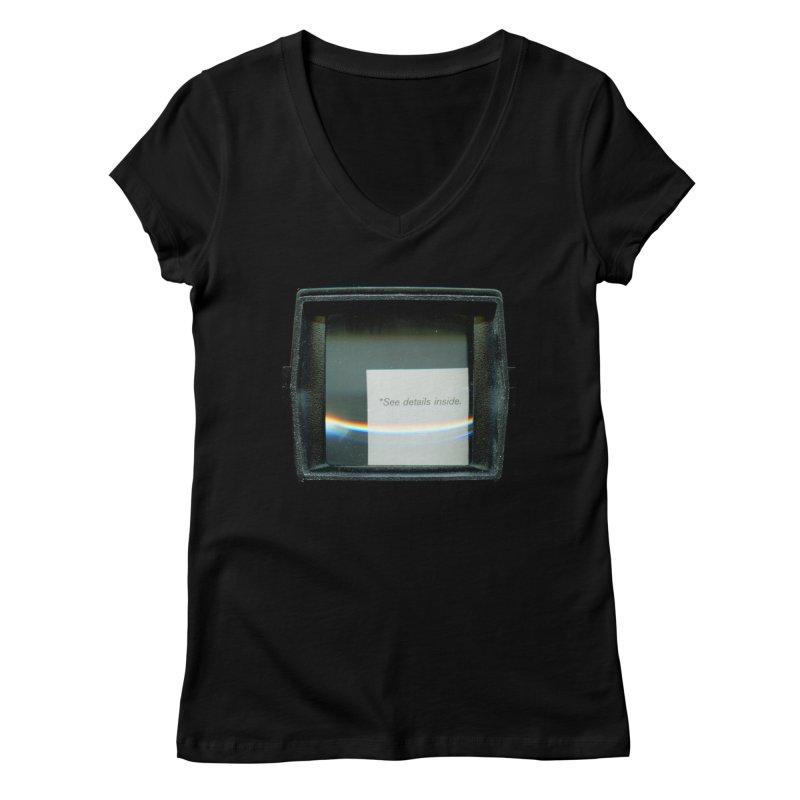 Asterisk Women's V-Neck by ilyya's Artist Shop