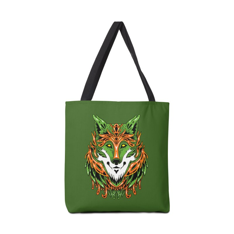 Green Wolf Accessories Bag by Imagi Factory