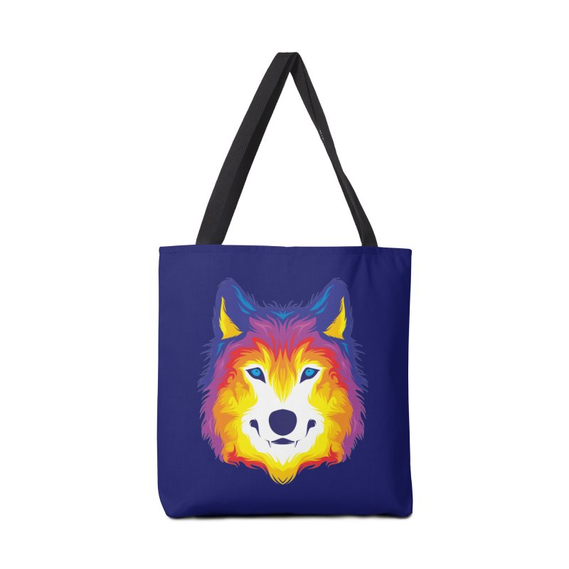 Wolf in color Accessories Bag by Imagi Factory