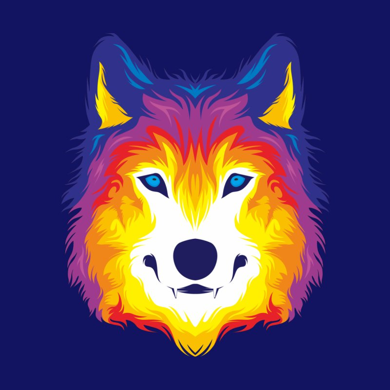 Wolf in color Women's Longsleeve T-Shirt by