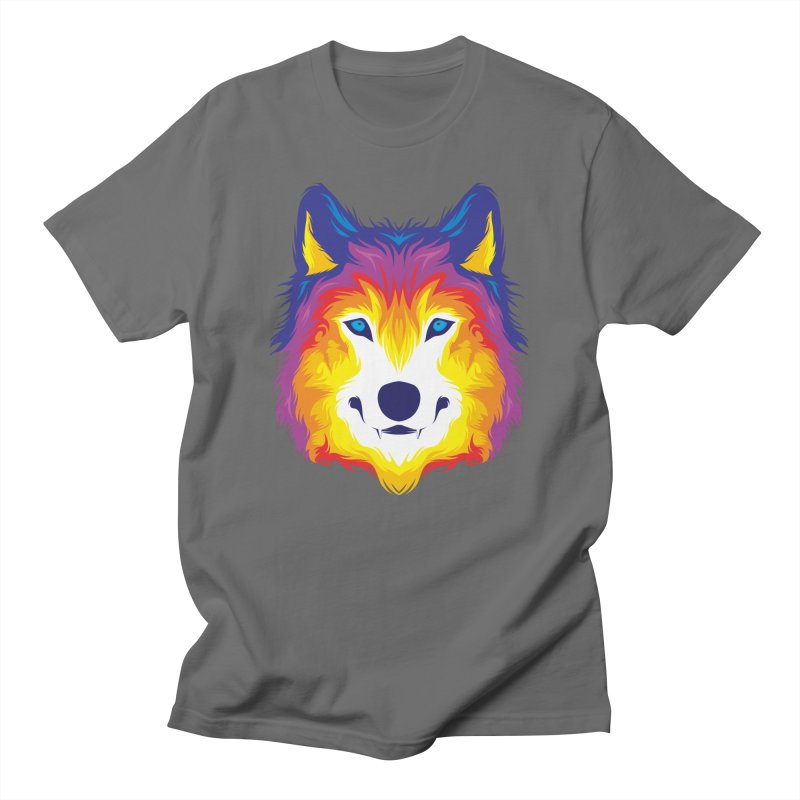 Wolf in color Men's T-Shirt by
