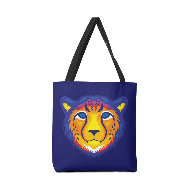 Cheetah in color Accessories Bag by Imagi Factory