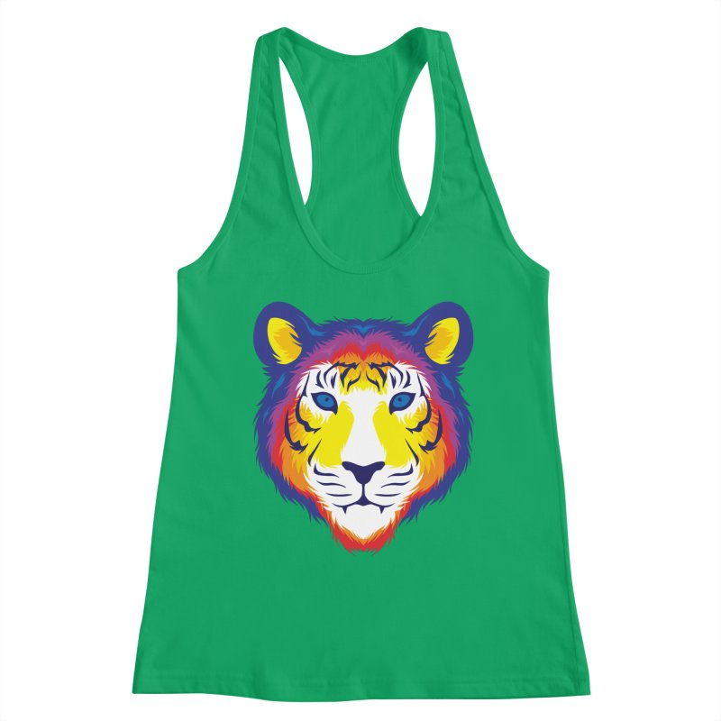 Tiger in color Women's Tank by Imagi Factory