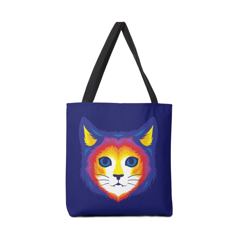 Cat in Color Accessories Bag by Imagi Factory