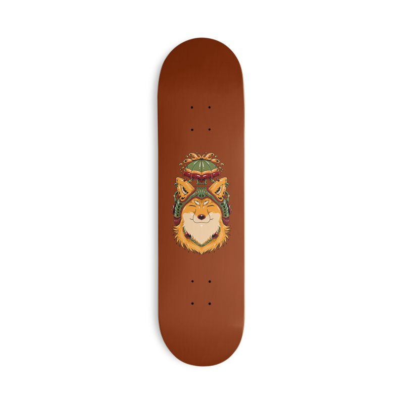 Steampunk Fox Accessories Skateboard by Imagi Factory