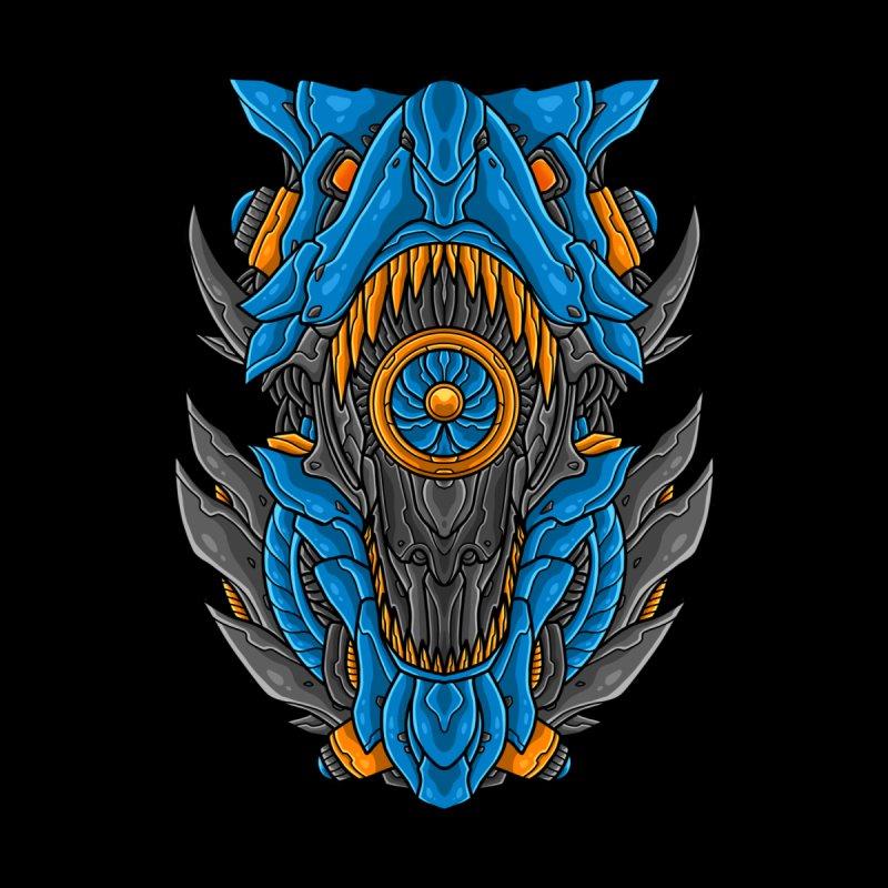 Mecha T-Rex Blue Women's Longsleeve T-Shirt by