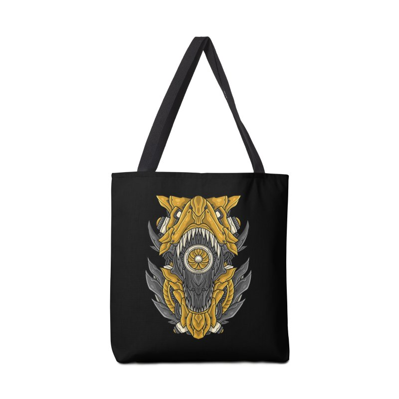 Mecha T-Rex Gold Accessories Bag by