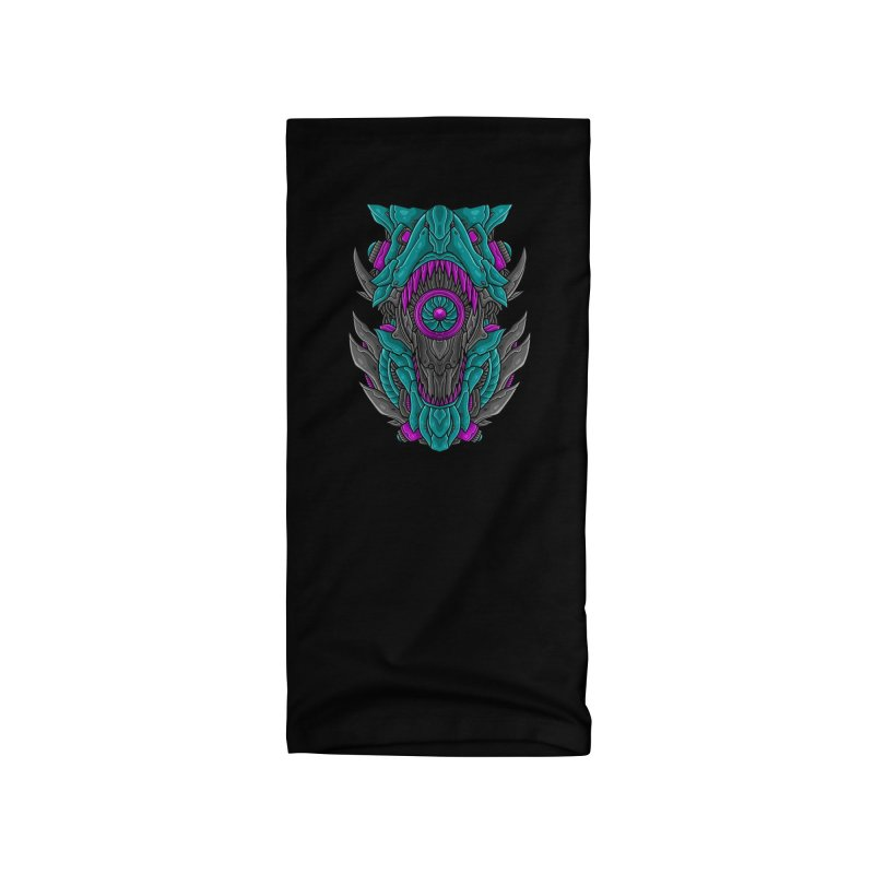 Mecha T-Rex Turquoise Accessories Neck Gaiter by