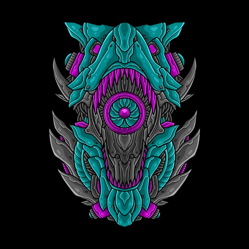 Mecha T-Rex Turquoise Women's T-Shirt by