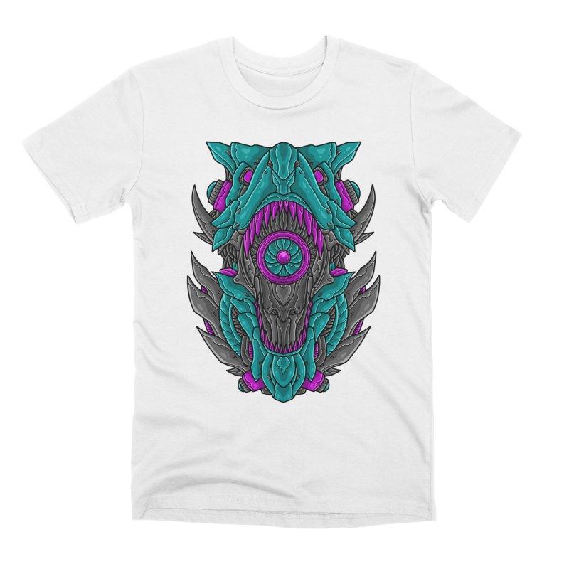 Mecha T-Rex Turquoise Men's T-Shirt by