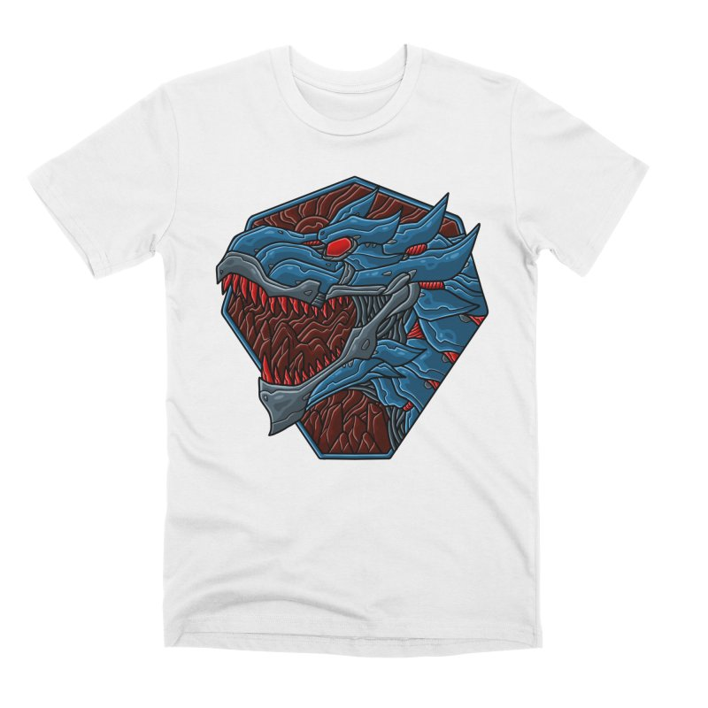 Mecha T-Rex Badge Men's T-Shirt by