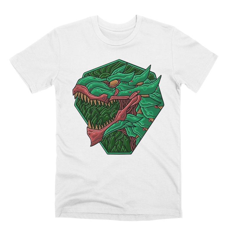 Mecha T-Rex Badge Green Men's T-Shirt by