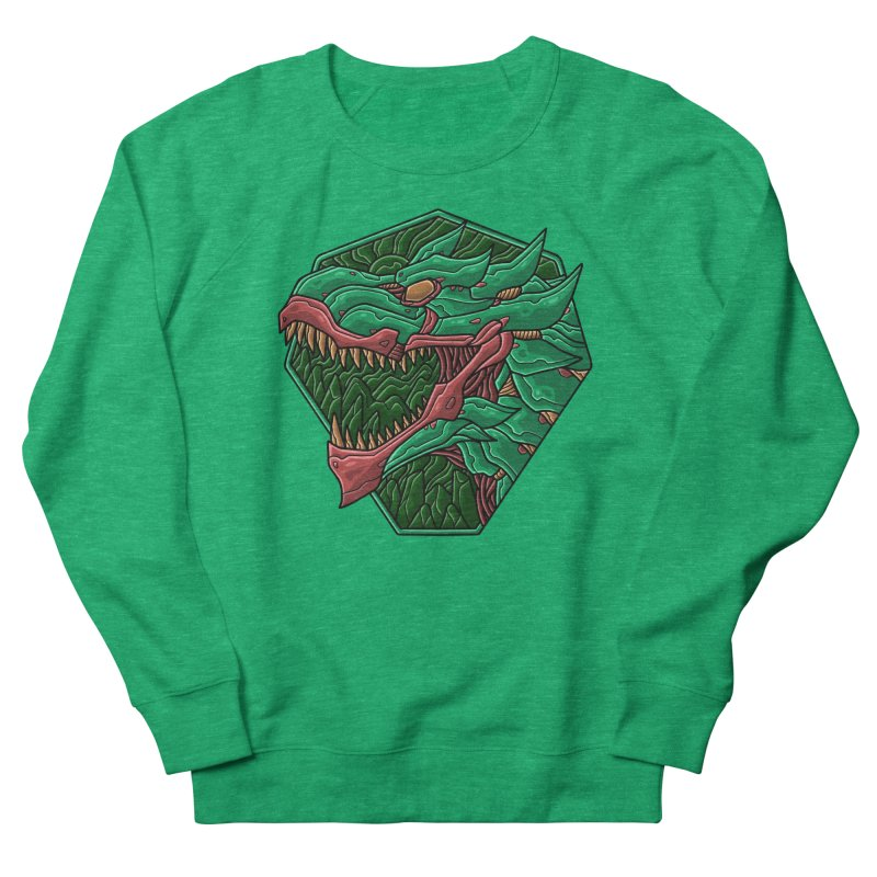 Mecha T-Rex Badge Green Women's Sweatshirt by