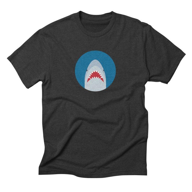 Shark Attack Men's Triblend T-Shirt by imaginarystory's Artist Shop