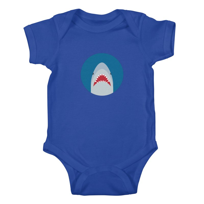 Shark Attack Kids Baby Bodysuit by imaginarystory's Artist Shop