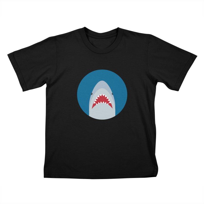 Shark Attack Kids T-Shirt by imaginarystory's Artist Shop
