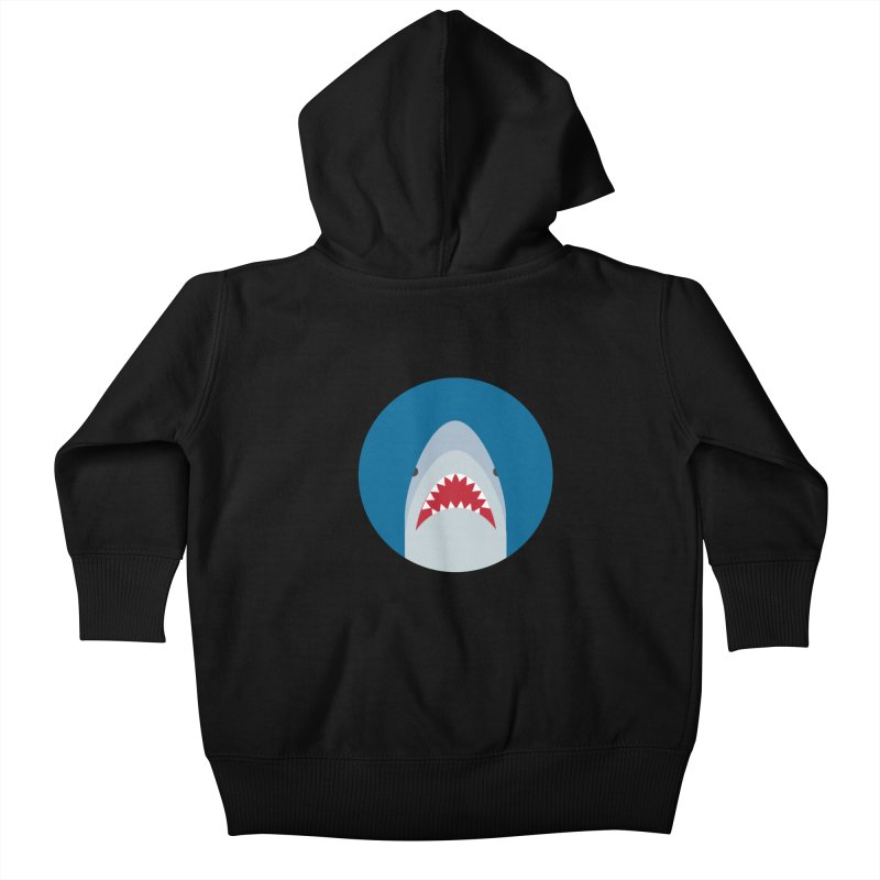 Shark Attack Kids Baby Zip-Up Hoody by imaginarystory's Artist Shop