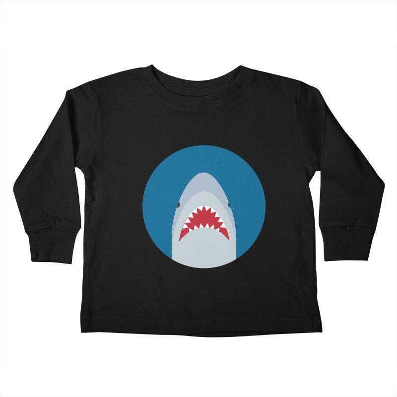 Shark Attack Kids Toddler Longsleeve T-Shirt by imaginarystory's Artist Shop