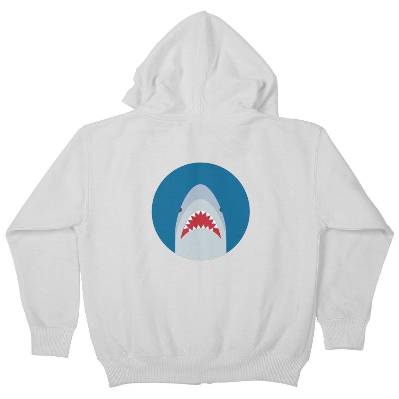 Shark Attack Kids Zip-Up Hoody by imaginarystory's Artist Shop