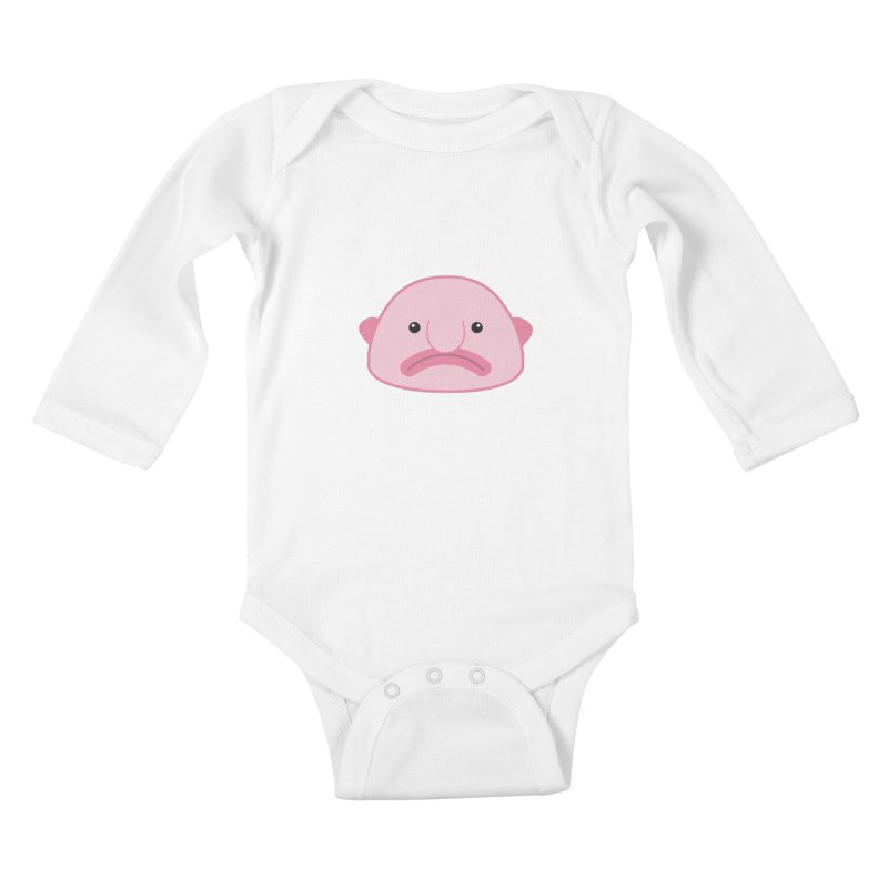 Blobfish Kids Baby Longsleeve Bodysuit by imaginarystory's Artist Shop