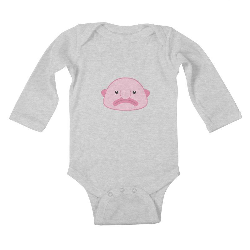 Blobfish Kids Baby Longsleeve Bodysuit by imaginarystory's Artist Shop