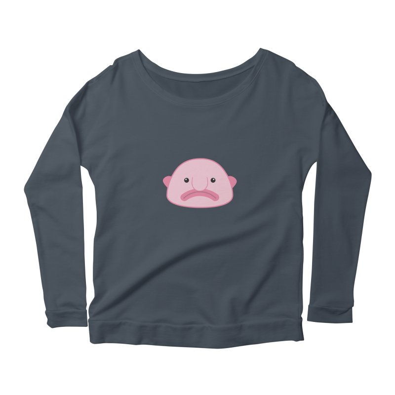 Blobfish Women's Longsleeve Scoopneck  by imaginarystory's Artist Shop
