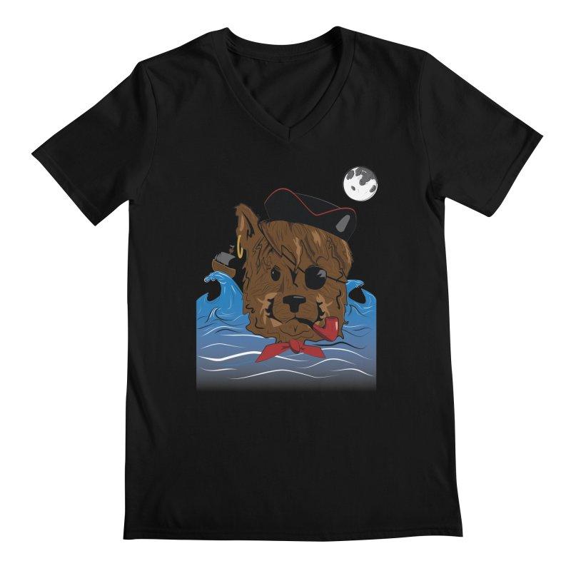 Pirate Pup Men's V-Neck by imintoit's Artist Shop