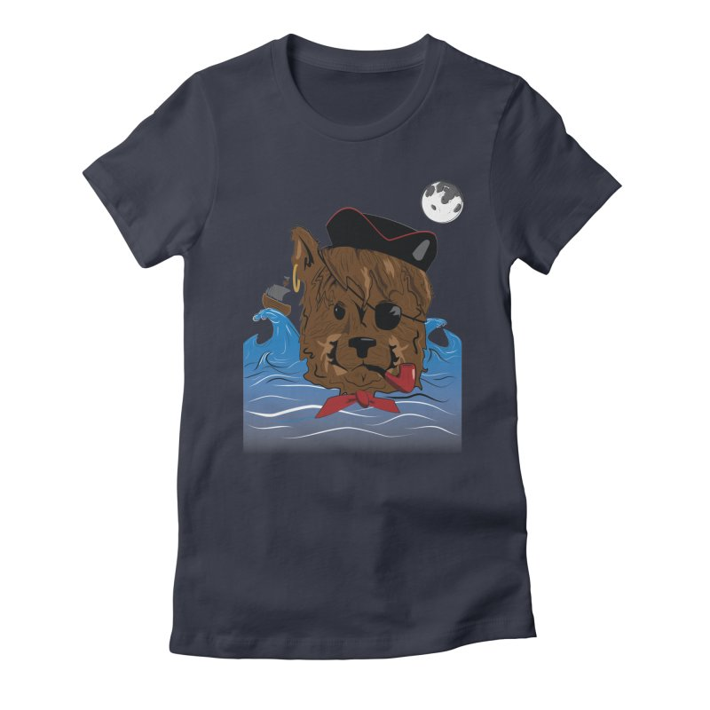 Pirate Pup Women's Fitted T-Shirt by imintoit's Artist Shop