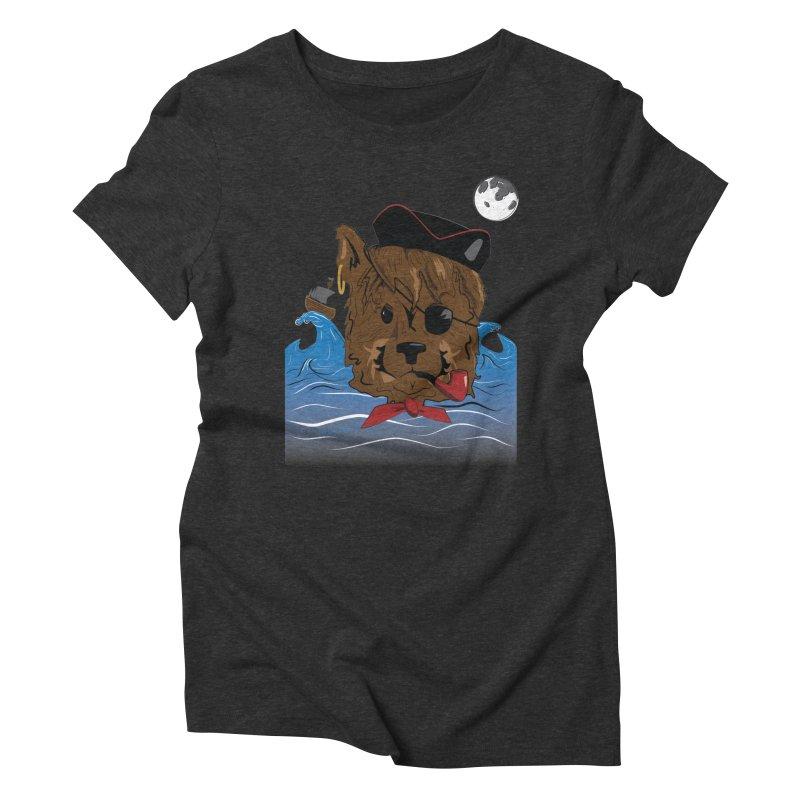 Pirate Pup Women's Triblend T-shirt by imintoit's Artist Shop