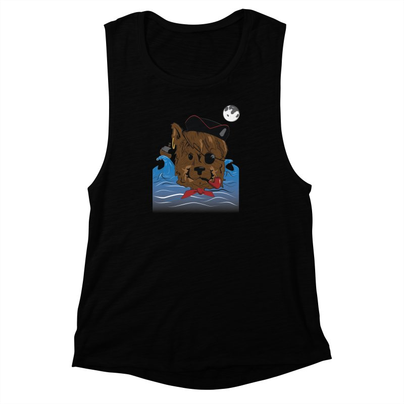 Pirate Pup Women's Muscle Tank by imintoit's Artist Shop