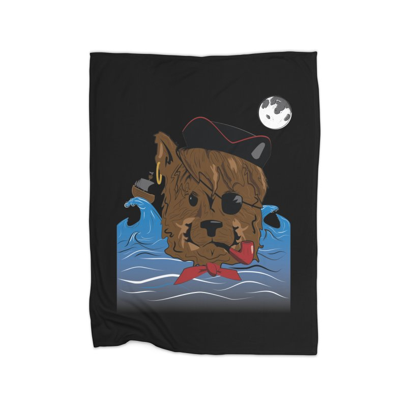 Pirate Pup Home Blanket by imintoit's Artist Shop