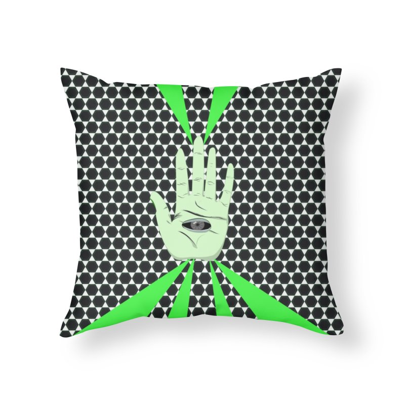 Hand Eye Coordination Home Throw Pillow by imintoit's Artist Shop