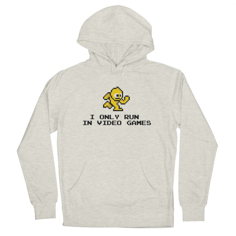 I only run in video games Men's Pullover Hoody by immerzion's t-shirt designs