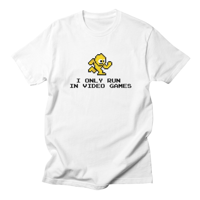 I only run in video games Men's T-shirt by immerzion's t-shirt designs