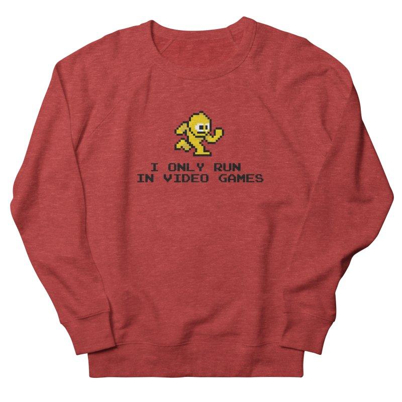 I only run in video games Men's Sweatshirt by immerzion's t-shirt designs